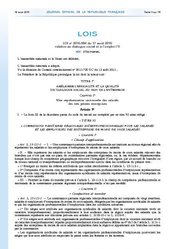 CHSCT loi 2005