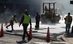 Risques professionnels : hommes sur chantier