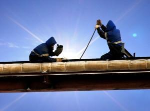 Risques professionnels - hommes sur chantier