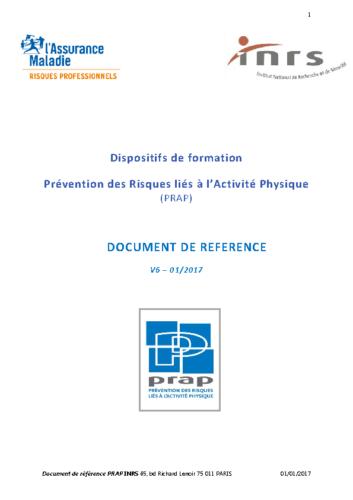 INRS Document de référence PRAP 01/2017