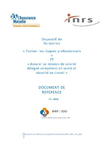 Document de référence EVRP 2016